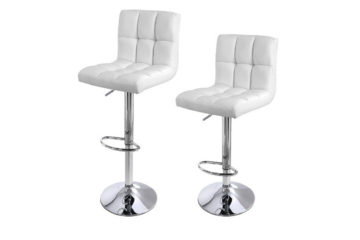 Songmics LJB64W lot de 2 tabourets de bar